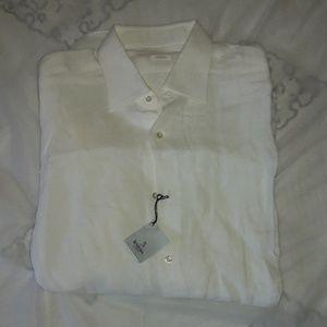 Barba l.sleeve shirt linen size Xl